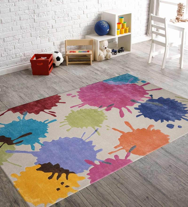 Indian Hand Made Floor Carpet Tufted Kids Splash Design by Designs View
