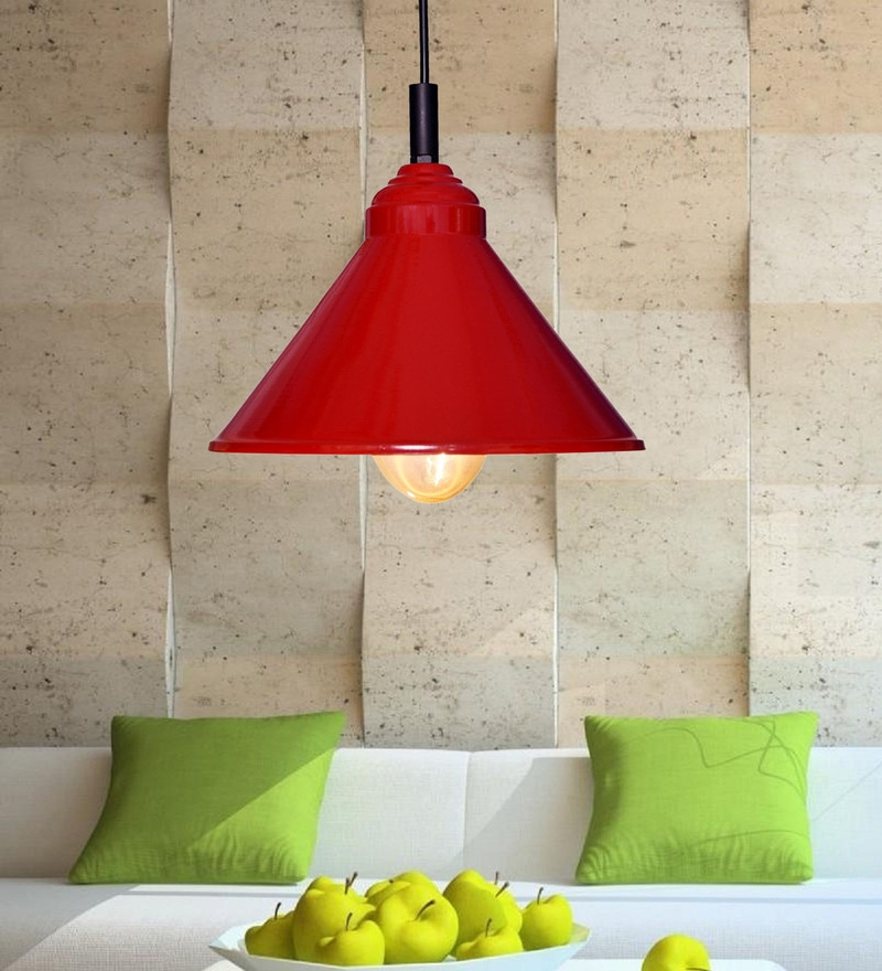 Red Iron Plain Pendant by Design Villa