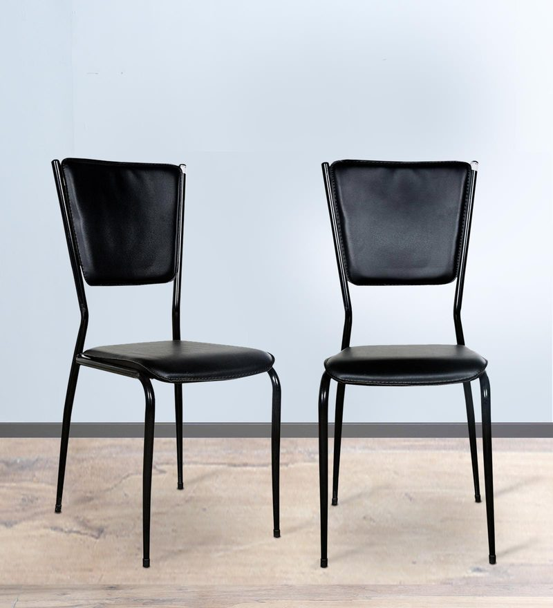 Designer Dining Chair (Set of 2) in Black Colour by Parin