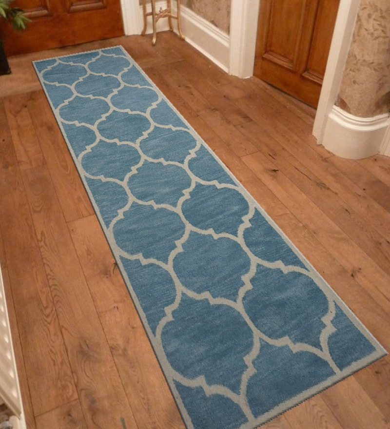 Blue Wool 30 x 96 Inch Hand tufted Runner by Designs View