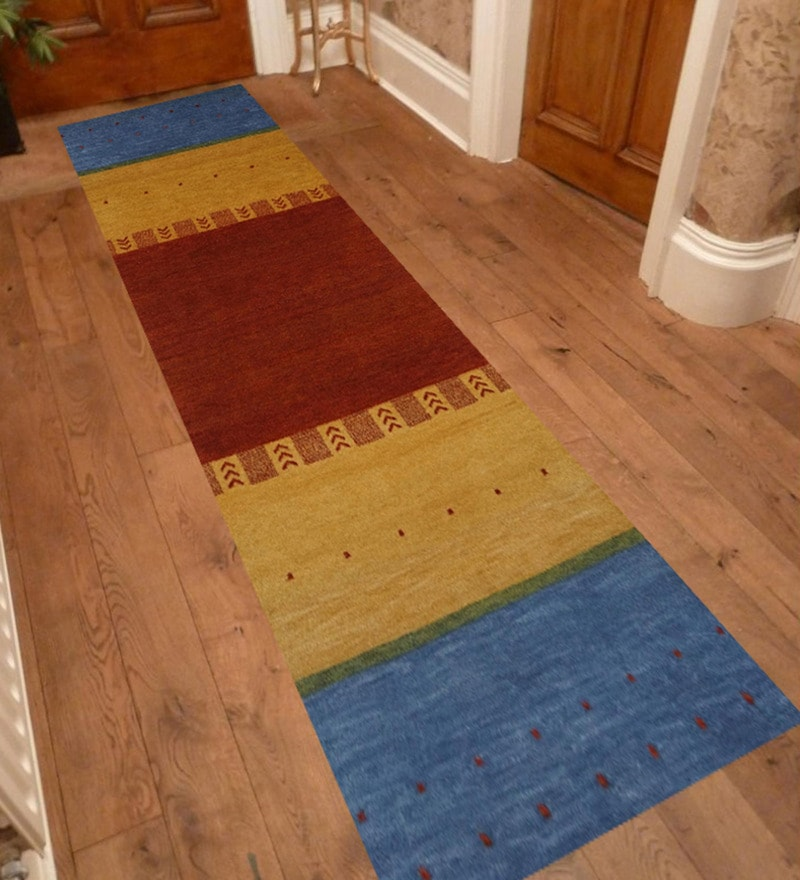 Multicolour Wool 96 x 30 Inch Hand Knotted Runner by Designs View
