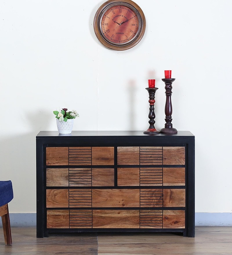 Deux Chest of Six Drawers in Dual Tone Finish by Woodsworth