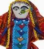 De Kulture Works Multicolour Cotton Dhingli Woman Showpiece
