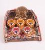 Multicolour Clay Fancy Diwali Thali by Decardo