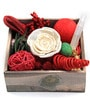 Hibiscus Potpourri Wooden Box by Decoaro
