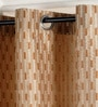 Brown & Beige Polyester 46 x 90 Inch Jacquard Eyelet Door Curtain - Set of 2 by Deco Essential