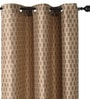 Deco Window Brown Polyester 46 x 90 Inch Door Curtain - Set of 2