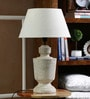 Off White Cotton Table Lamp by The Decor Mart
