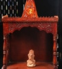 Decorhand Maroon Wooden Temple