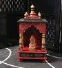 Decorhand Red & Green Wooden Jodhpur Style Temple