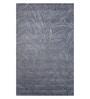 Grey Wool 90 x 60 Inch Hand Tuft Leaf Design Area Rug by Designs View