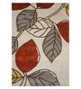 Multicolour Wool 90 x 60 Inch Hand Tufted Leaf Design Area Rug by Designs View