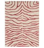 Designs View Red & Ivory Wool & Viscose 60 x 96 Inch Hand Tufted Zebra Design Carpet