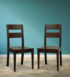 Dining Chair (Set Of 2) In Brown Finish