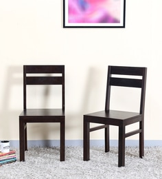 Enkel Dining Chair (Set Of Two) In Warm Chestnut Finish