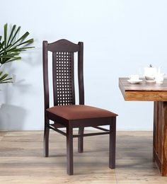 Dining Chair In Matte Rosewood Finish By Furncoms