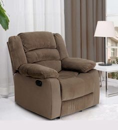 Divine One Seater Recliner In Dark Brown Colour