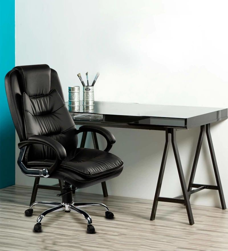 DIR High Back Executive Chair in Black Colour by Debono