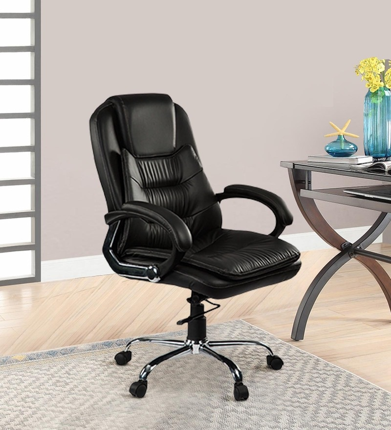 DIR Medium Back Executive Chair in Black Colour by Debono