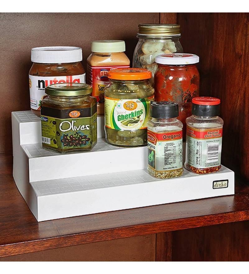 Disha Kitchen Cupboard Space Organizer - Set of 2