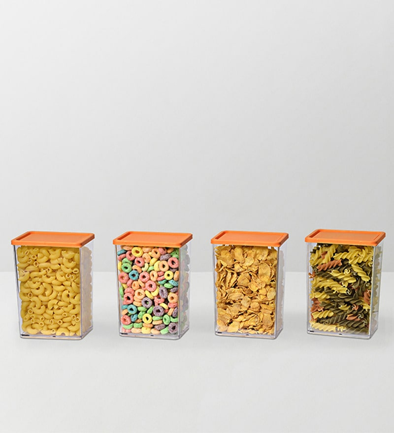 Disha Orange 800 ML (Each) Storage Container - Set of 4