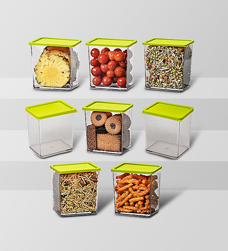 Disha Green 600 ML (Each) Storage Container - Set of 8
