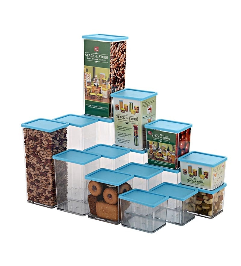 Disha Blue Storage Container - Set of 16