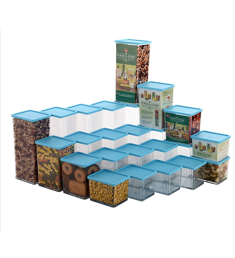 Disha Blue Storage Container - Set of 24