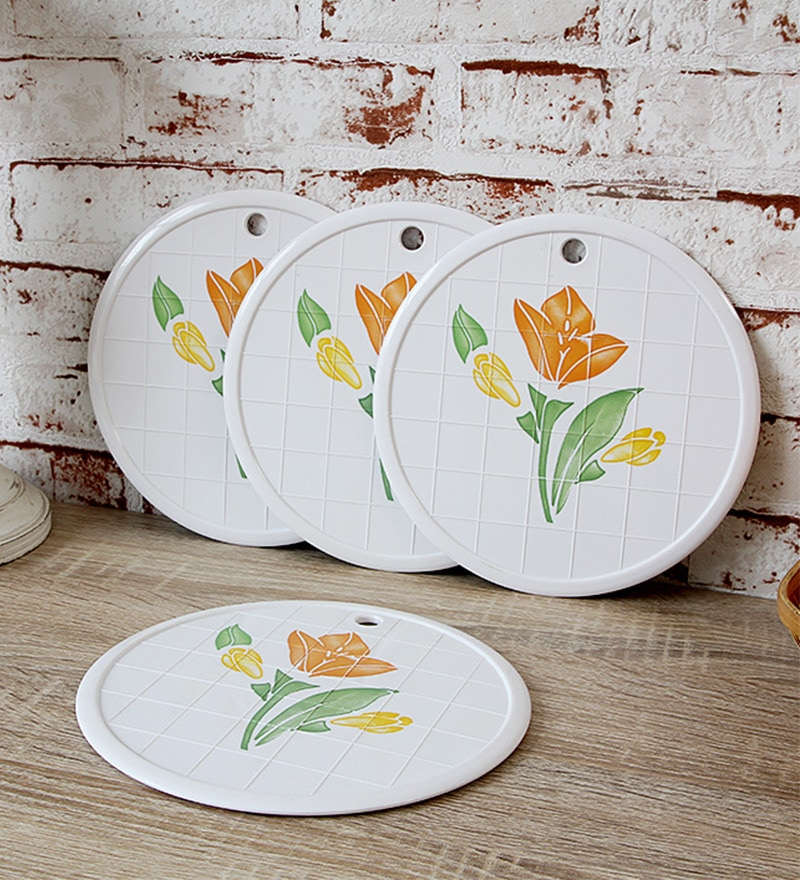Disha Floral Plastic Placemat - Set of 4