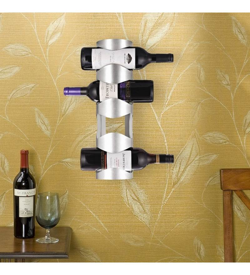 Stainless Steel 4 Bottle Wine Rack by Disha