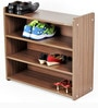 Diego Shoe Rack Cabinet Stand (4 Shelves) in Walnut Finish by Bluewud