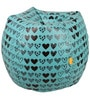 Digital Printed Bean Bag with Beans in Multicolour by Orka
