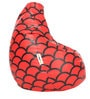 Digital Printed XL Bean Bag Cover without Beans with Red Pattern by Can