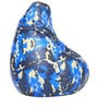 Digital Printed Bean Bag with Beans in Blue Camouflage by Can