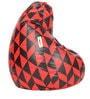 Digital Printed XL Bean Bag Filled with Beans in Triangle Theme by Can