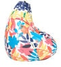 Digital Printed Bean Bag with Beans with Colourful Leaf Design by Can