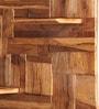 Lisbon Natural Brown Teak Wood Wall Shelf by Divine Decor