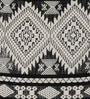 Black Cotton 16 x 16 Inch Ikat Cushion Cover by Diwa Home