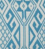 Blue Cotton 16 x 16 Inch Ikat Cushion Cover by Diwa Home