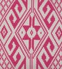 Pink Cotton 16 x 16 Inch Ikat Cushion Cover by Diwa Home