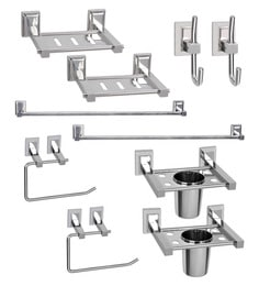 Doyours Stainless Steel Glossy 10-piece Bathroom Fixture Set - 1450805