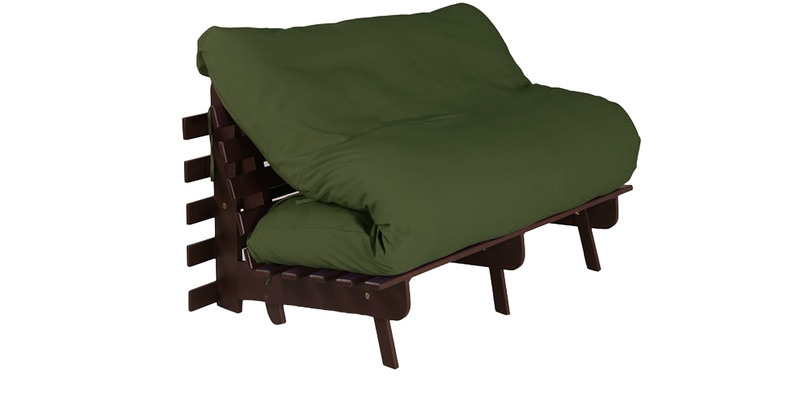 Double Futon with Mattress in Green Colour by Auspicious Home