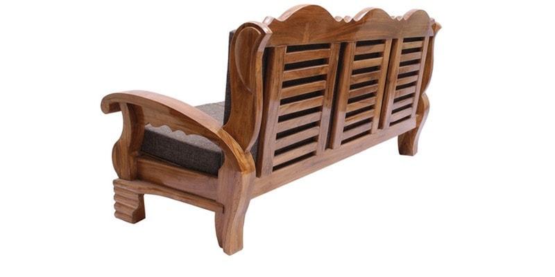 Buy Downing Teak Wood Sofa Set 3 1 1 Seater In Natural Teak