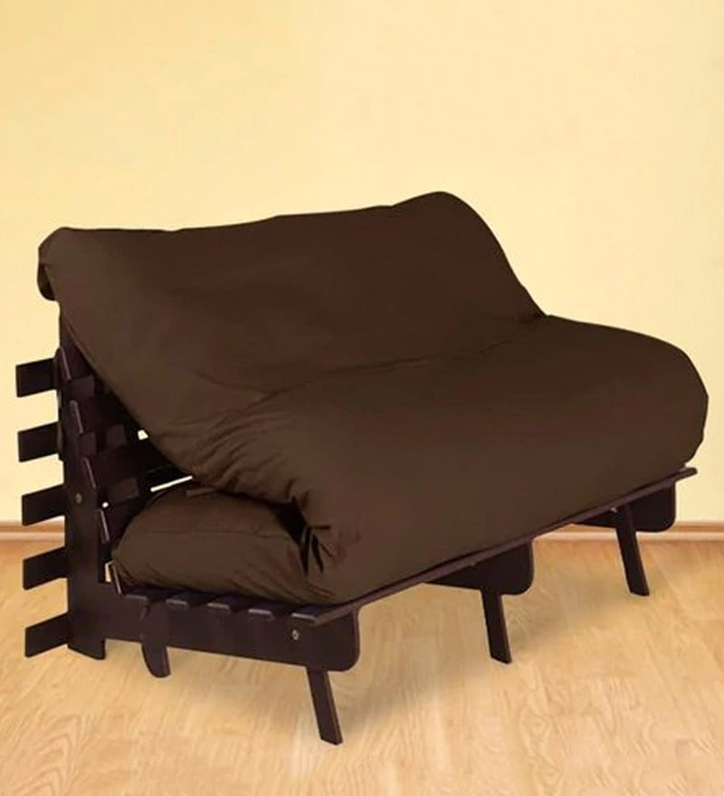 Double Futon with Mattress in Chocolate Colour by Auspicious Home