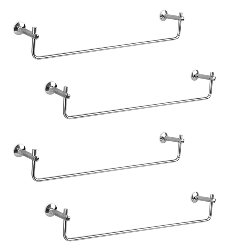 Doyours Glossy Stainless Steel 24.4 Inch Towel Rail - Set of 4