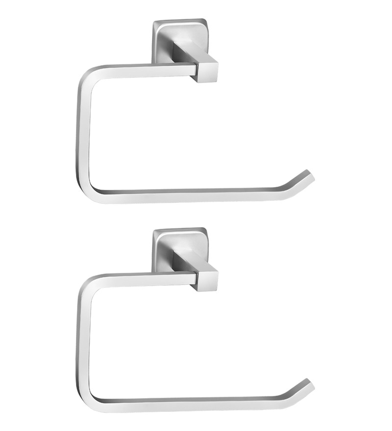 Doyours Glossy Stainless Steel 6.8 inch Towel Ring Set
