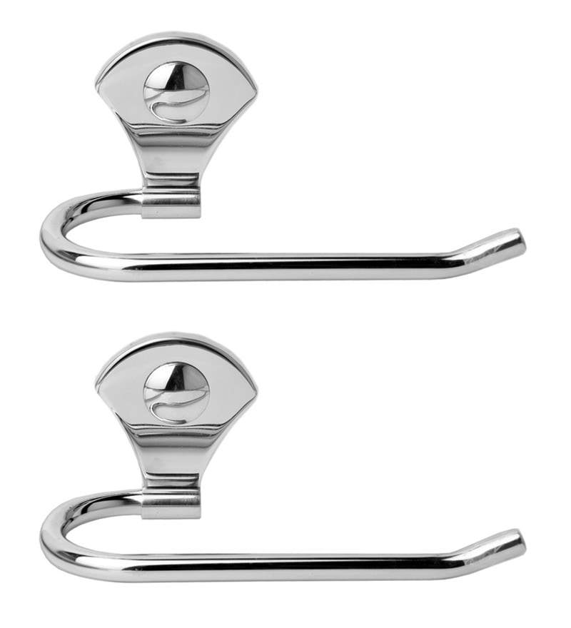 Doyours Glossy Stainless Steel 9.4 Inch Towel Holder Set