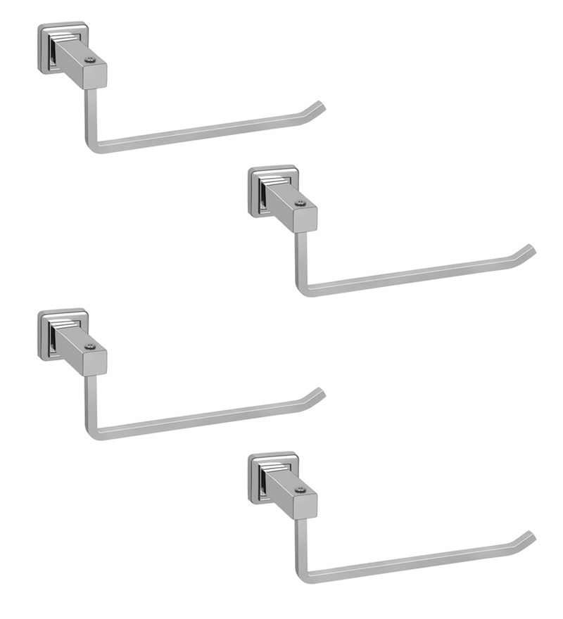 Doyours Glossy Stainless Steel 9 Inch Towel Hanger - Set of 4