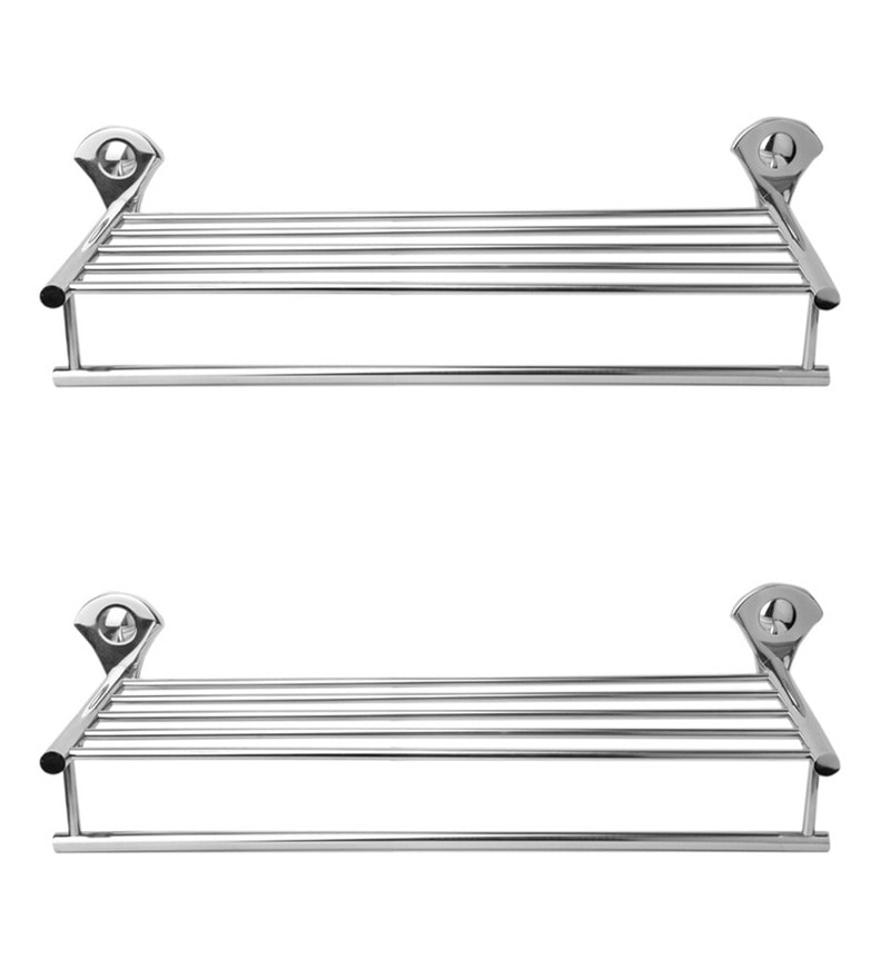 Doyours Glossy Stainless Steel Towel Rack Set