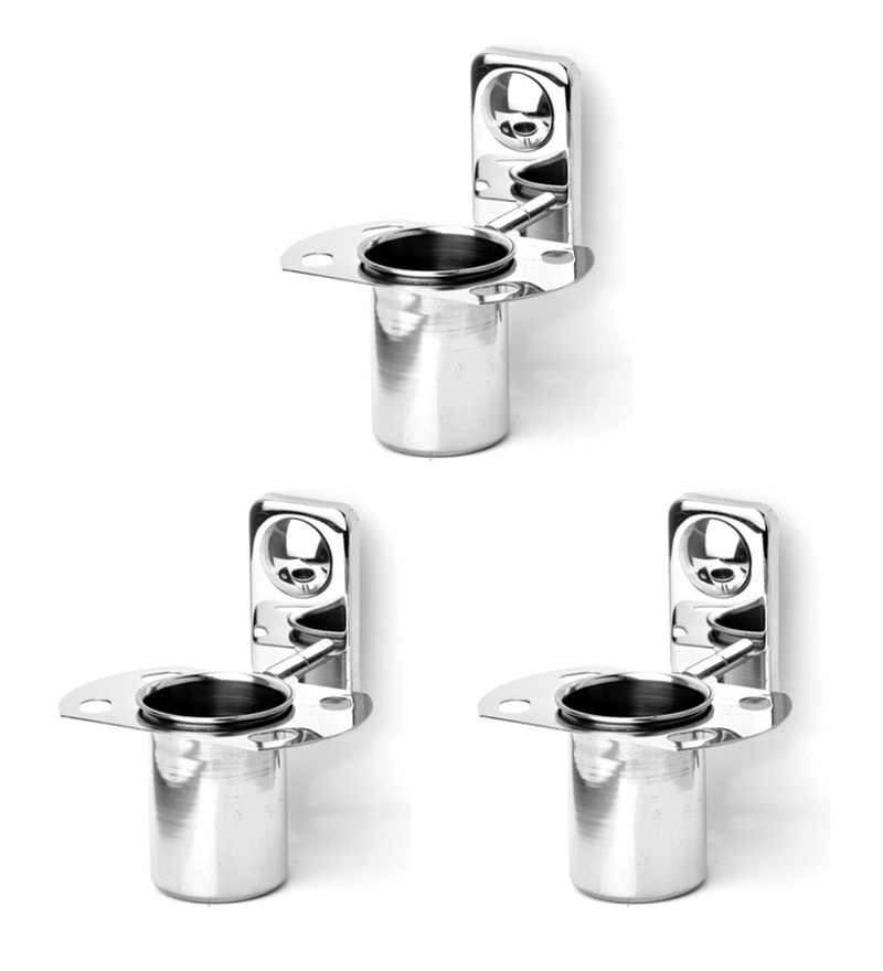Doyours Glossy Stainless Steel Tumbler Holder - Set of 3